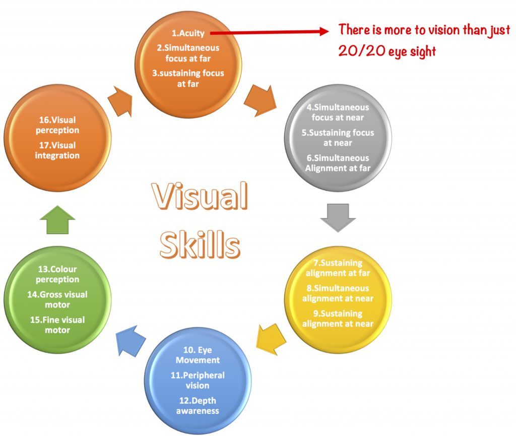 17 Visual skills infographic child optometrist near me